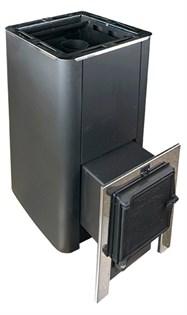Печь для бани Конвектика Олимп Carbon 26 с чуг.дверцей без стекла антрацит - фото 10271