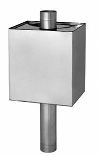 Бак Феррум Комфорт самоварного типа 55 л нержавеющий (AISI 201/1,0 мм) ф115 мм прямоугольный - фото 10306