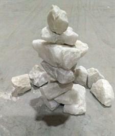 Камень для бани кварц белый колотый