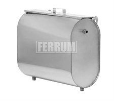 Бак Феррум Комфорт выносной 75 л нержавеющий (AISI 201/1,0 мм) горизонтальный эллипс - фото 10473