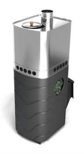 Печь для бани ТМФ Бирюса 2013 Carbon дверца антрацит закр. каменка антрацит - фото 5156
