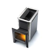 Печь для бани ТМФ Тунгуска Inox Витра антрацит нерж.вставки - фото 5180