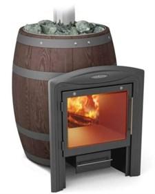 Печь для бани ТМФ бочка Вариата Inox Витра Баррель палисандр - фото 5211
