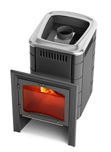 Печь для бани ТМФ Компакт 2013 Carbon Витра антрацит - фото 5230