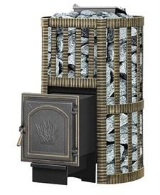 Печь для бани Везувий Ураган Ковка 16 (271) закр каменка дровяная - фото 5255