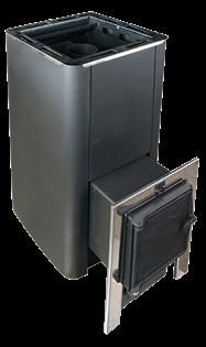 Печь для бани Конвектика Олимп Carbon 18 с чуг.дверцей без стекла антрацит - фото 5276