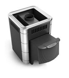 Печь для бани ТМФ Оса Carbon дверца антрацит антрацит нерж.вставки - фото 5302