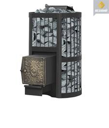 Печь для бани Везувий Ураган Стандарт 28 (ДТ-4) закр каменка дровяная - фото 5325
