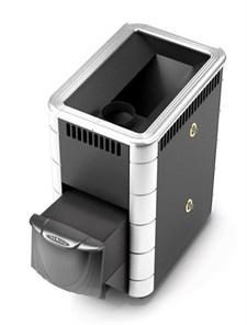 Печь для бани ТМФ Тунгуска Inox дверца антрацит т/обменник антрацит нерж.вставки - фото 5327