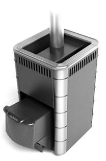 Печь для бани ТМФ Карасук Carbon дверца антрацит антрацит нерж.вставки - фото 5370