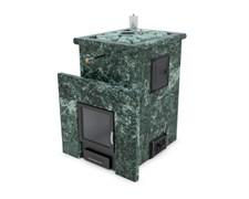 Печь для бани ИзиСтим Сочи М2 в четырехстороннем кожухе из змеевика откр верх - фото 5393
