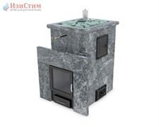 Печь для бани ИзиСтим Сочи М2 в четырехстороннем кожухе из талькохлорита откр верх - фото 5396