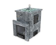 Печь для бани ИзиСтим Анапа М2 в четырехстороннем кожухе из талькохлорита откр верх - фото 5397