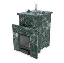 Печь для бани ИзиСтим Сочи М2 в четырехстороннем кожухе из змеевика - фото 5398