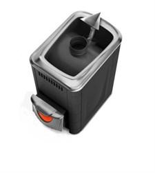 Печь для бани ТМФ Ангара 2012 Inox нерж.дверца со стеклом короткий топл. канал антрацит - фото 5402
