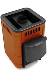 Печь для бани ТМФ Оса Inox дверца антрацит короткий топливный канал терракота - фото 5405