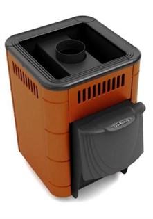 Печь для бани ТМФ Оса Carbon дверца антрацит короткий топливный канал терракота - фото 5407
