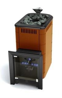 Печь для бани газовая ТМФ Таймыр Inox закрытая каменка терракота (без ГГУ) - фото 5483