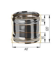 Адаптер Феррум ММ для печи нержавеющий (430/0,8 мм) ф115 - фото 5592
