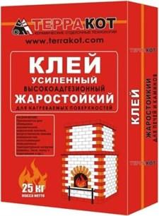 """Клей усиленный """"Терракот"""" жаростойкий (25 кг) - фото 5761"""