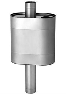 Бак Везувий самоварного типа, 55 л, нержавеющий (AISI 439/1,0 мм/439/0,8 мм), ф115 мм, овальный - фото 5778