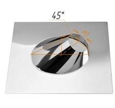 Крышная разделка Феррум угловая (430/0,5 мм) нержавеющая, ф115 - фото 5866
