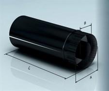 Дымоход Agni утепленный эмалированный 0,8 d-200/280 L=0,5м по воде - фото 5902