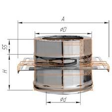 Площадка Феррум монтажная (430 + нерж.), ф115/200, по воде - фото 5922