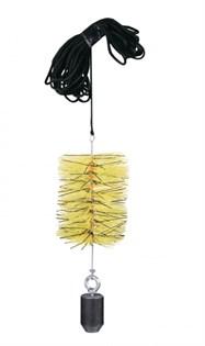 Ерш трубочист ф200 мм, нейлон, с веревкой, NZN200YL - фото 5935
