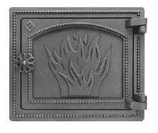 Дверца Везувий чугунная печная, (ДТ-3), 250*290 мм, антрацит - фото 6010