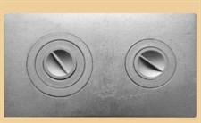 Плита чугунная ПС-2-3, с конфорками, сборная, 710*410*8мм, Рубцовск - фото 6049