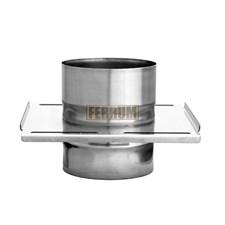 Площадка Феррум монтажная одностенная (430/0.8 мм), ф120, по воде - фото 6050