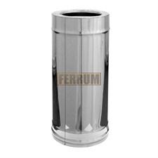 Дымоход Феррум утепленный нержавеющий (430/0,8мм)/зеркальный нержавеющий ф120/200 L=0,5 м по воде - фото 6071