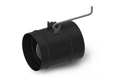 Шибер ТМФ ф120 мм, 1,5мм, 08ПС прямой, антрацит (Нормаль, Студент, Инженер, Гимназист) - фото 6091