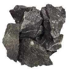 """Камень для бани Пироксенит """"Черный принц"""" колотый, 10 кг, средний, коробка, ЗЖ - фото 6093"""