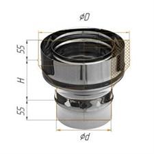 Переход Феррум нержавеющий (430/0,5 мм) ф100П-115М - фото 6192