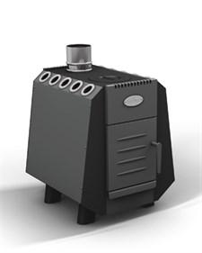 Печь отопительно-варочная ГрейВари Комбат 150 куб.м дровяная - фото 6251