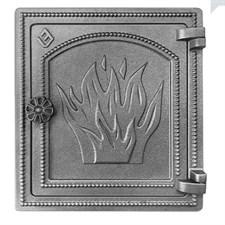 Дверца Везувий чугунная печная, (ДТ-4), 320х290 мм, некрашеная - фото 6254