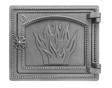 Дверца Везувий чугунная печная, (ДТ-3), 290х250 мм,некрашеная - фото 6320