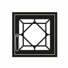 Дверца каминная ГрейВари Кристалл М, 460х442 мм - фото 6321