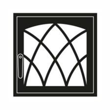 Дверца каминная ГрейВари Готика L, 526х508 мм - фото 6324