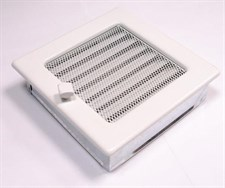 Решетка вентиляционная 170*170 мм, белая, с жалюзи, Fireway - фото 6349