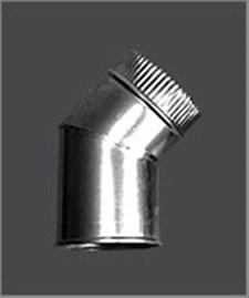 Колено Феррум угол 135°, нержавеющее (430/0,5 мм), ф80 - фото 6367