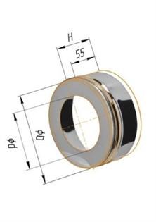 Заглушка Феррум с отверстием, нержавеющая (430/0,5мм), ф200/280 - фото 6418
