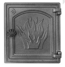 Дверца Везувий чугунная печная (ДТ-4) 320х290 мм антрацит - фото 6434