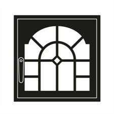 Дверца каминная ГрейВари Витраж L, 526х508 мм - фото 6435