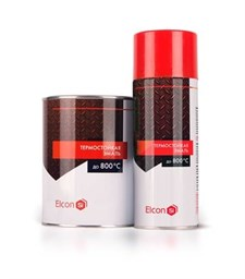 Эмаль Elkon термостойкая, красно-коричневая, (аэрозоль 0,52л), Элкон - фото 6461