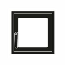Дверца каминная ГрейВари Стандарт S, 352х334 мм - фото 6463