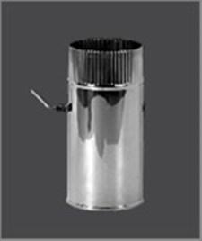 Заслонка Феррум (шибер поворотный) нержавеющая (430/0,5мм), ф140 - фото 6479