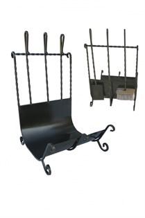 Дровница с тремя предметами (щетка, совок, кочерга), Банный Эксперт - фото 6482